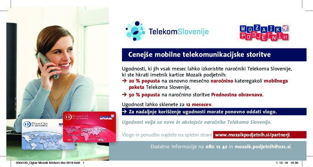 Vloga za koriščenje ugodnosti pri Telekom Slovenije