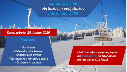 Zimsko srečanje obrtnikov in podjetnikov z družinami, KOPE 2020